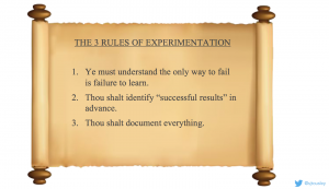 3 rules of experimentation